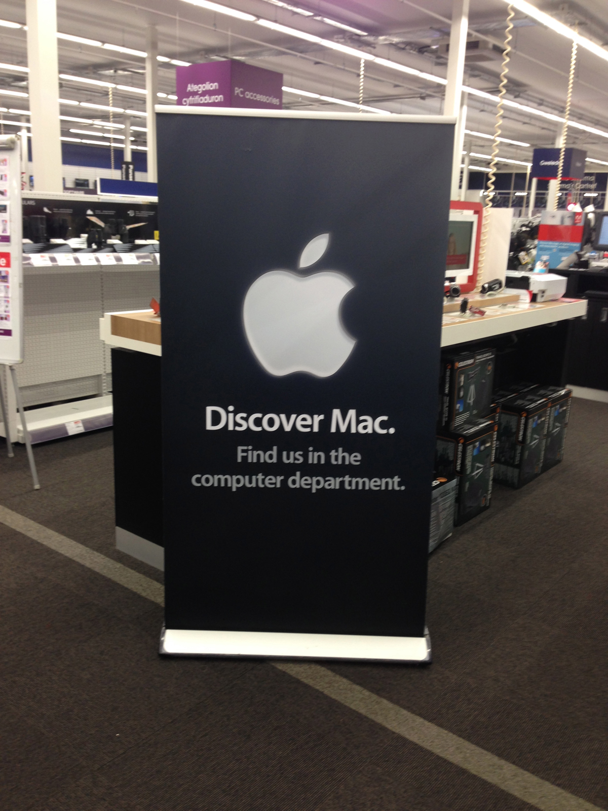apple banner stands