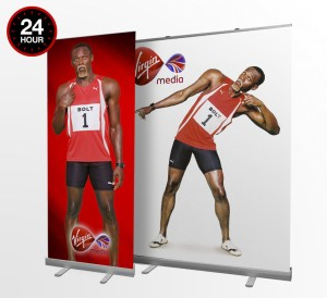 24 Hour Banner Stands