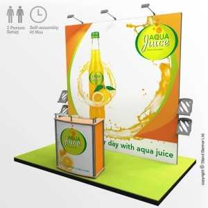 2m x 2m exhibition stand