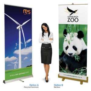 environmental pull up banner stands