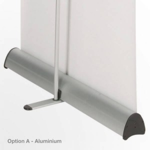 recycled aluminium banner stand