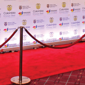 red carpet stands
