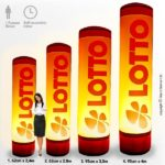 Custom printed inflatable tube, Ideal for both indoor or outdoor marketing at events and promotions to suit your company. By Stand Banner.