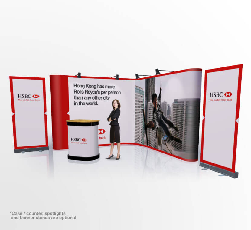 Expo Stand Banner : Banner stands pop up exhibition stand