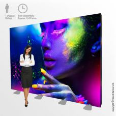 3m Wide LED Backlit Exhibition Stand