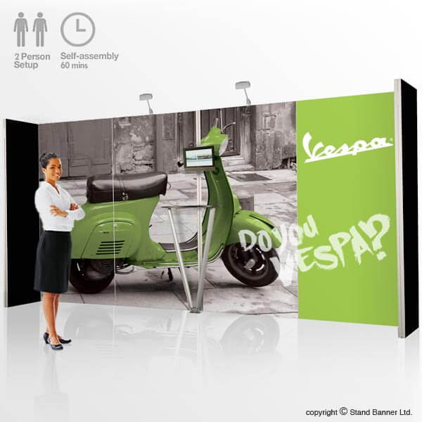 Portable Exhibition Kit Bangalore : Portable exhibition kit m display system stand banner