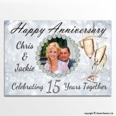 Custom Printed Anniversary Wedding Banners