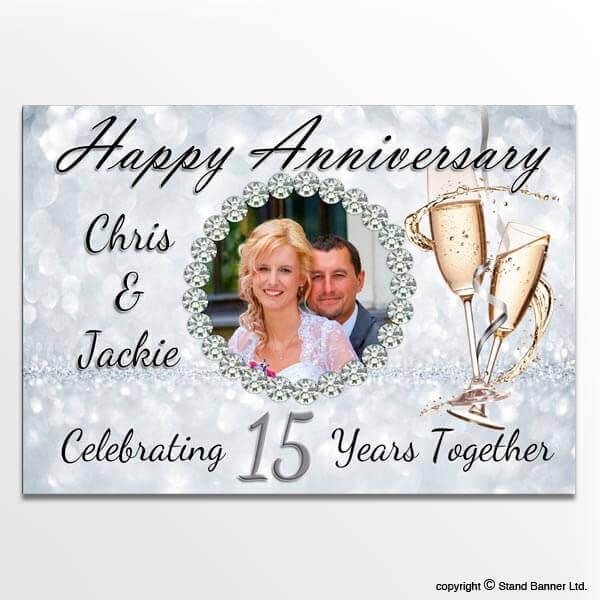 Exhibition Stand Vat : Custom printed anniversary wedding banners personalised
