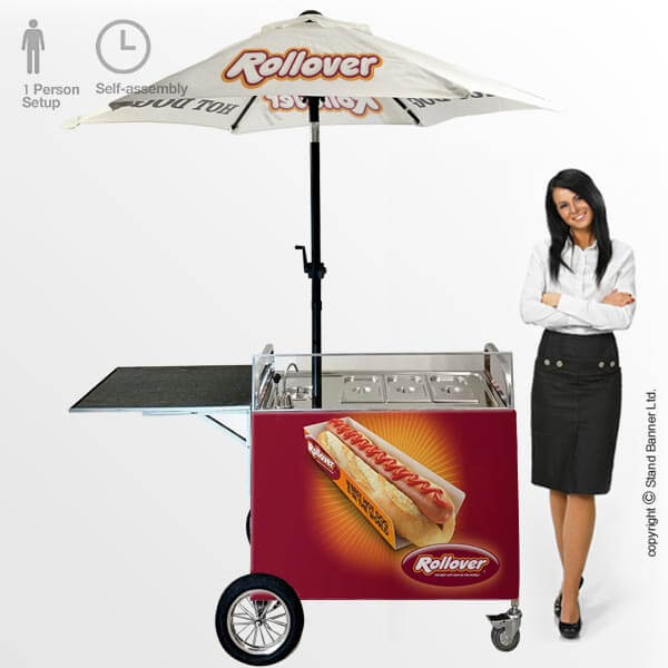 Branded Hot Dog Cart