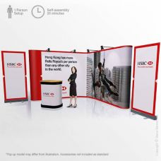 Corner Pop Up Display