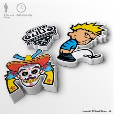 custom shaped vinyl stickers printed decals
