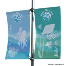 Lamp Post Flag Banner