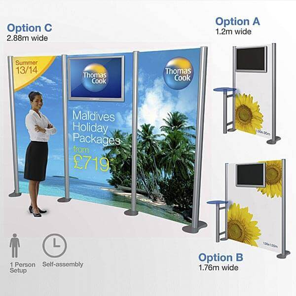Portable Exhibition Stands In : Tv display stand portable lcd system with printed graphics