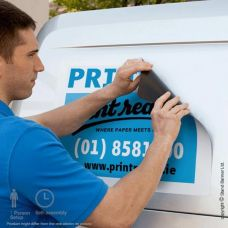 printed magnet van and van graphics