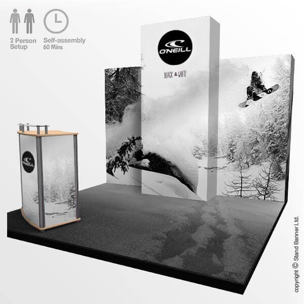 Marketing Exhibition Stand Goals : Portable marketing trade show stand m display system