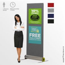 Omega Fabric Roll Up Banner