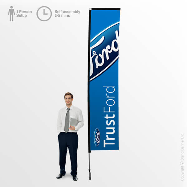 Rectangle Promotional Flag