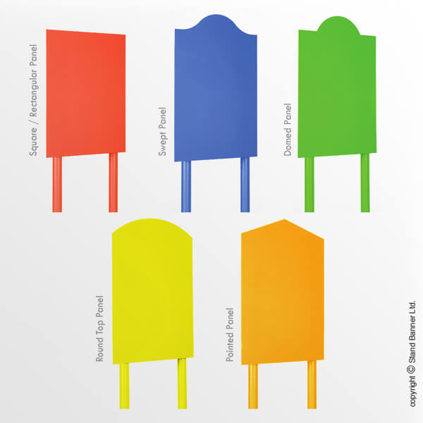 Outdoor Post and Panel Sign Panel Shapes