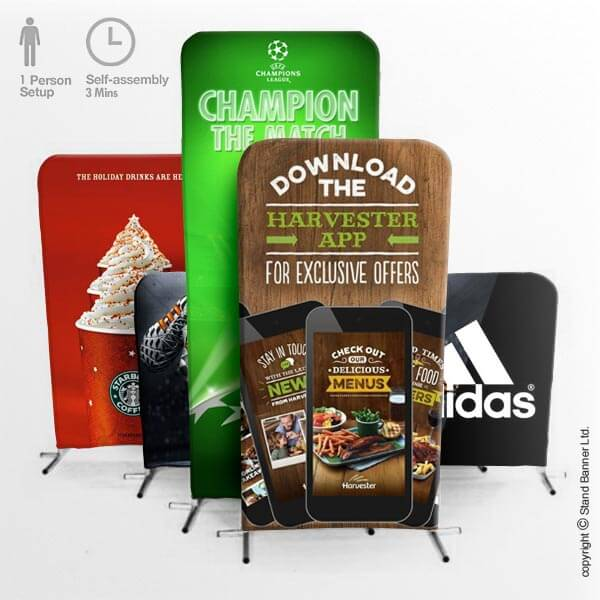 Pop Up Stand Up Banner Display