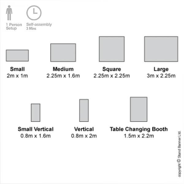 Pop Up Stand Up Banner Size Guide