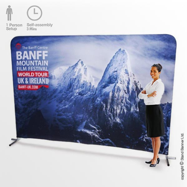 Pop Up Stand Up Banner 3m Wide