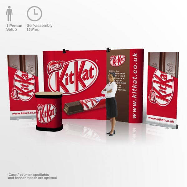 3x4 Pop Up Stand Curved