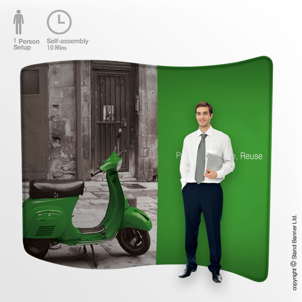 Fabric Back Wall Popup Display Stand