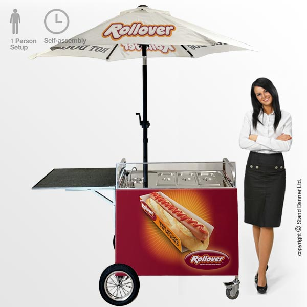 branded hot dog carts uk