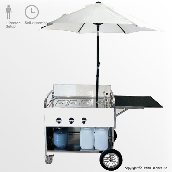 Branded Hot Dog Cart Rear