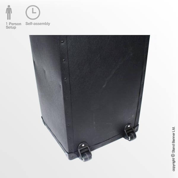 Wheeled Transportation Exhibition Stand Case Rear View