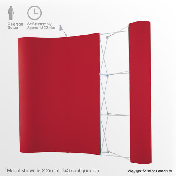 3m Tall Pop Up Stand Frame Panels