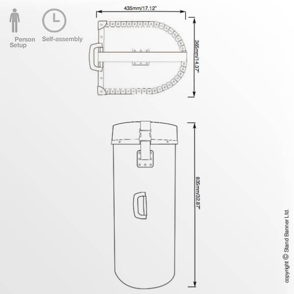 Wheeled Graphics Case Drum Dimensions