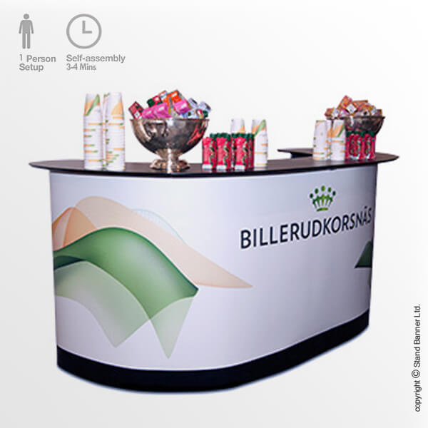 XL Folding Product Display Counter Bar