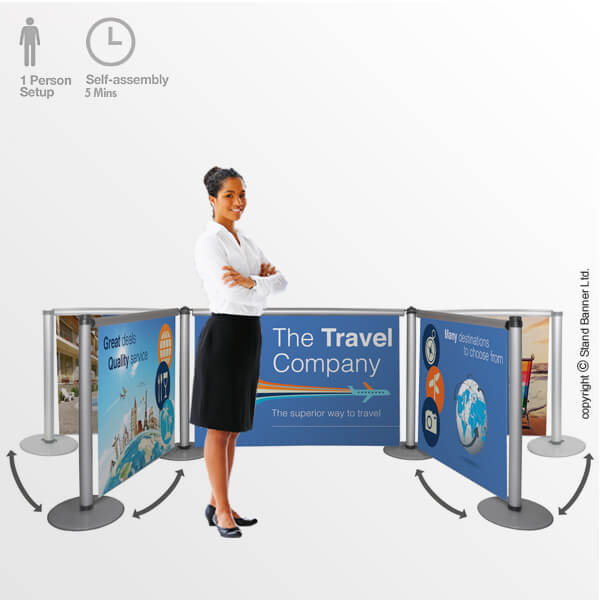 Roller Banner Screen Portable Backdrop Wall Banner Stand