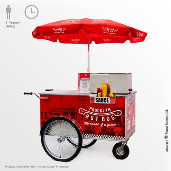 Portable Vending Hot Dog Counter