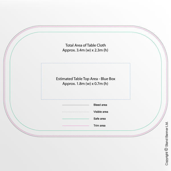 Custom Printed Table Cloth Template