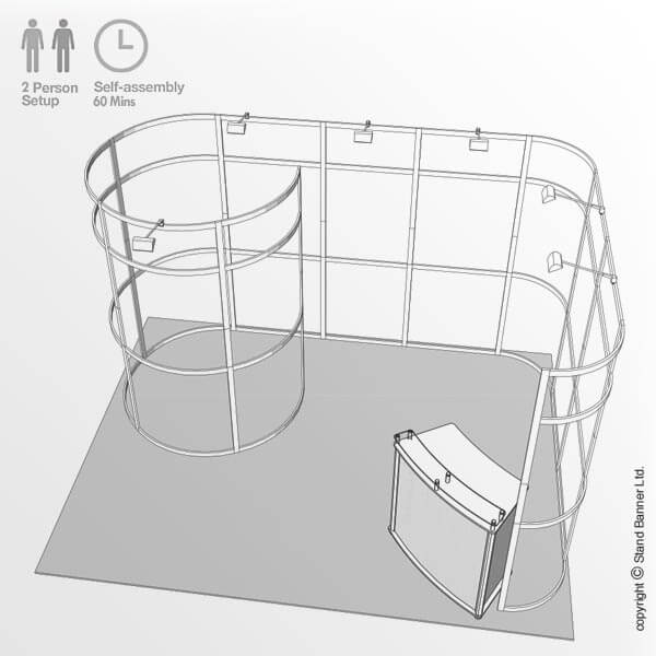 Marketing Trade Show Event Stand Frame Drawing