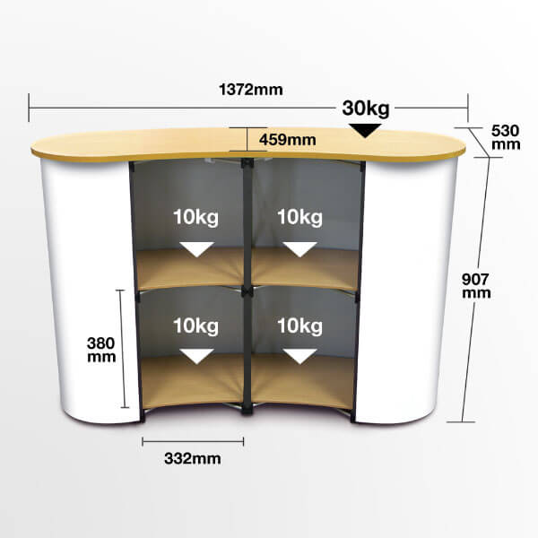 Exhibition Stand Measurements : Pop up counter portable exhibition counters uk