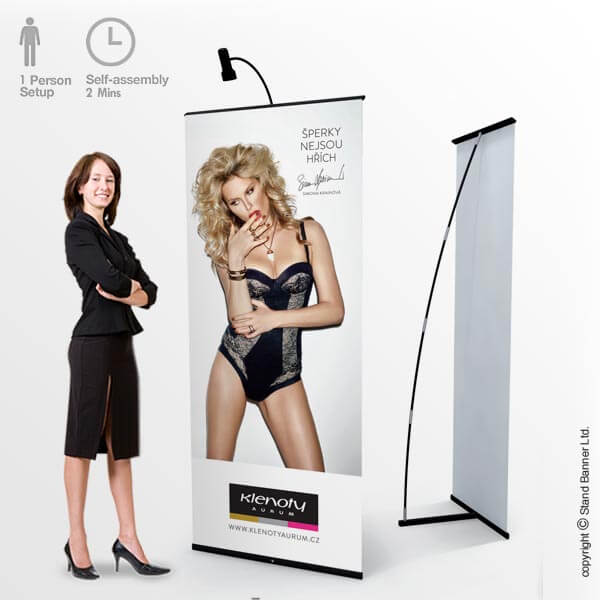 Retail Display Roll Up Banner Stand