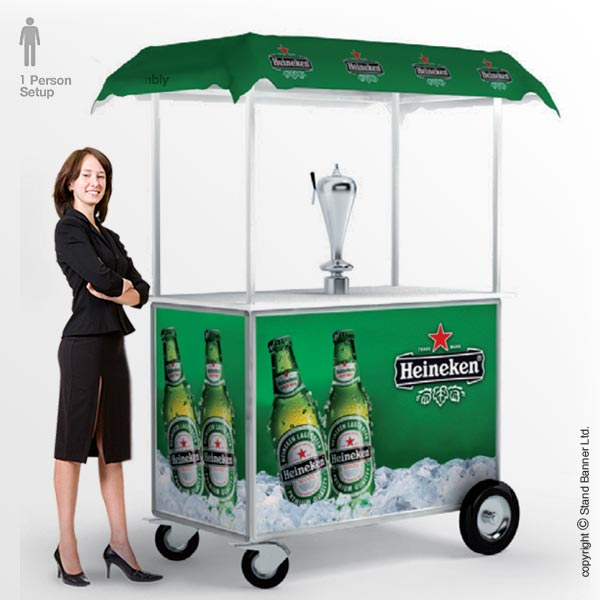 Wheeled Vending Drinks Cart