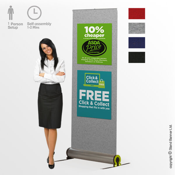 Omega Fabric Roll Up Banner Stand