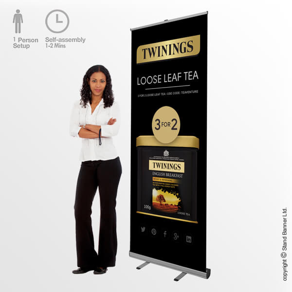Mosquito Roll Up Banner Stand Display
