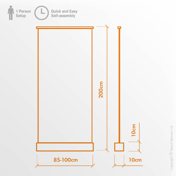 Anti-Viral Roller Banner Dimensions