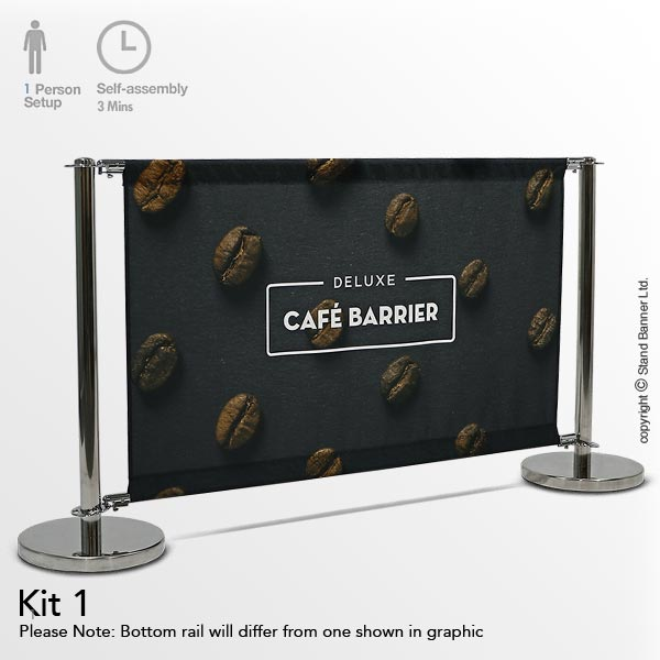 Kit1 - Deluxe Cafe Barrier 1.2m Wide