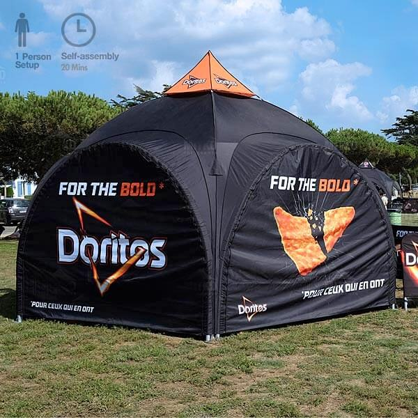 Dome Tent With Printed Graphics