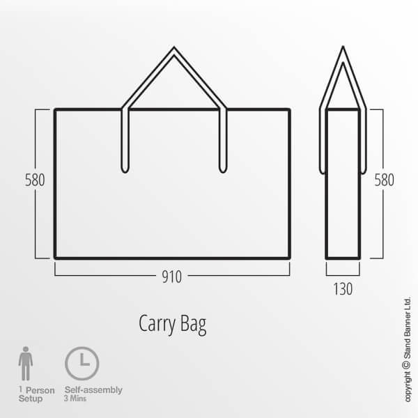In-store Counter Carry Bag Dimensions