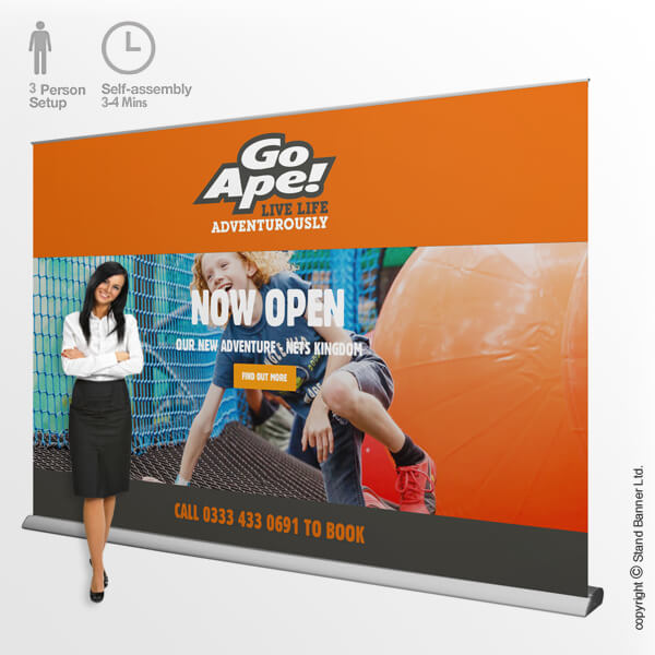 3 Metre Wide Roll Up Banner Stand