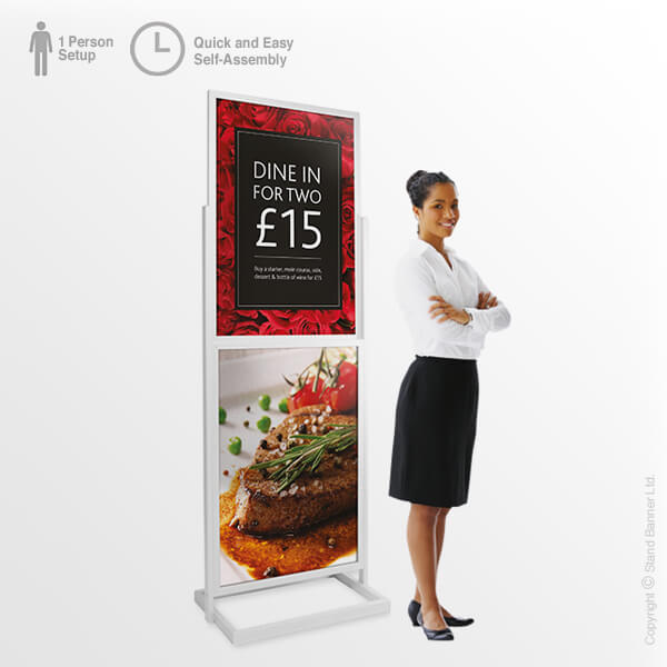 Portable Retail Poster Tower
