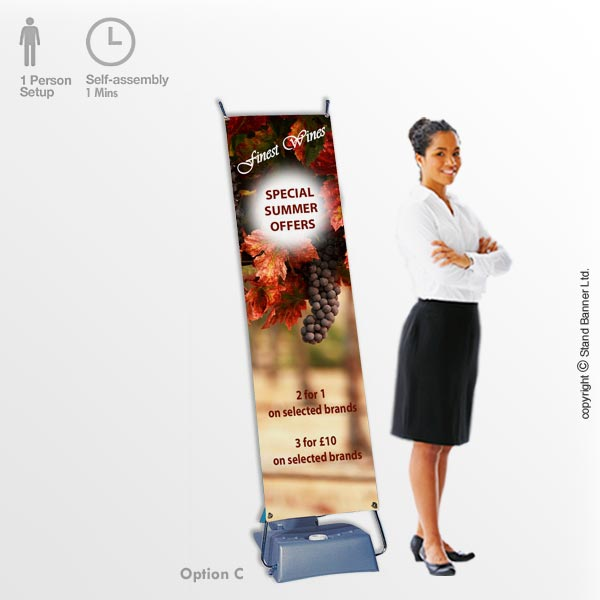 Outdoor Banner Stand Option C