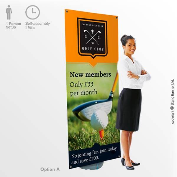 Outdoor Banner Stand Option A